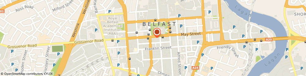 Route/map/directions to Design Bureau Europe, BT1 5JF Belfast, 16, DONEGALL SQUARE SOUTH