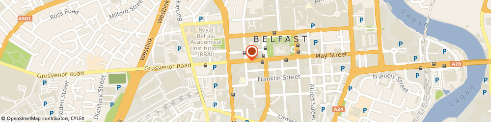 Route/map/directions to CALNEX SOLUTIONS (BELFAST) LIMITED, BT2 7GE Belfast, HOWARD HOUSE, 1 BRUNSWICK STREET