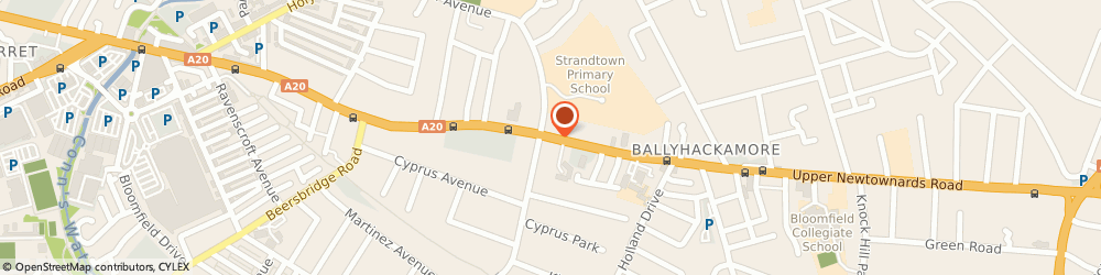 Route/map/directions to Close Developments Limited, BT4 3HZ Belfast, 169A UPPER NEWTOWNARDS RD