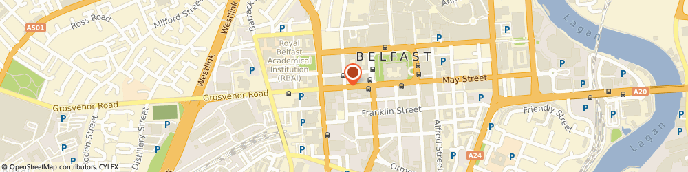 Route/map/directions to Removals Belfast, BT1 6PJ Belfast, Howard Street, Glengall House