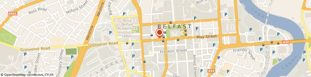 Route/map/directions to T m Lewin, BT1 6ND Belfast, 29 HOWARD STREET