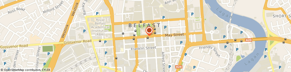 Route/map/directions to Northern Ireland Chamber Of Commerce & Industry, BT1 5JA Belfast, 4-5 Donegall Square South