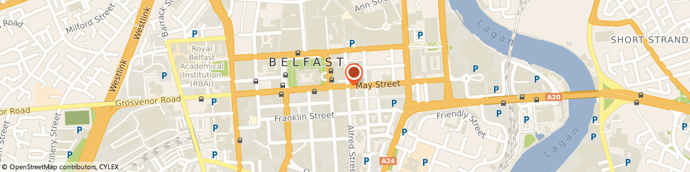 Route/map/directions to Btw Shiells Belfast, BT1 4NJ Belfast, 4-10, May Street