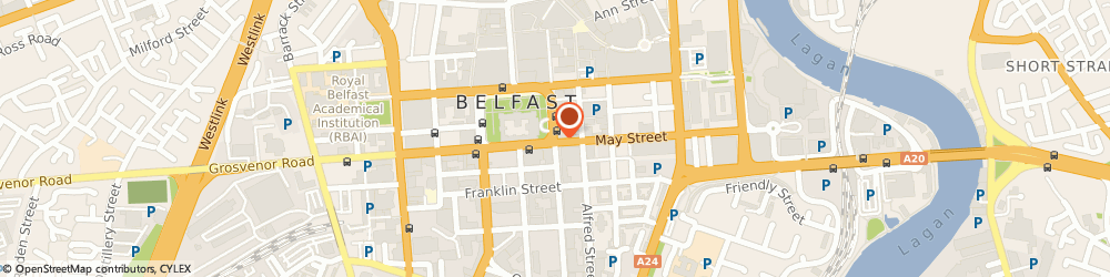 Route/map/directions to Planet Holdings (Ireland) Ltd, BT1 5HH Belfast, PEARL ASSURANCE HOUSE, 5TH FLOOR, 2 DONEGALL SQUARE EAST