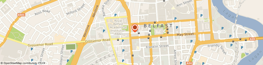 Route/map/directions to The Spires Mall, BT1 6DW Belfast, CHURCH HOUSE FISHERWICK PLACE