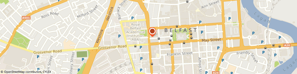 Route/map/directions to Regional Credit and Finance Limited, BT1 6HD Belfast, C/O KPMG, STOKES HOUSE, 17/25 COLLEGE SQUARE EAST