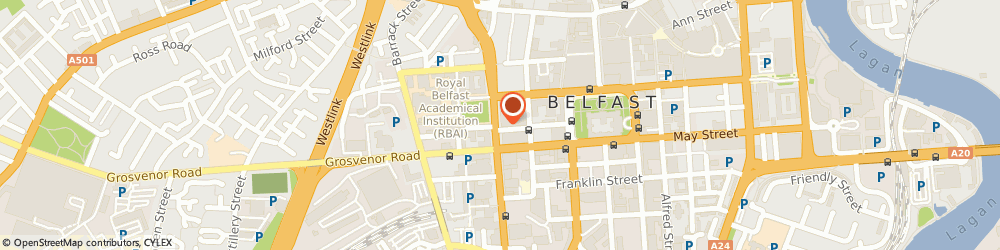 Route/map/directions to Laser Electrical Limited, BT1 6DH Belfast, C/O KPMG STOKES HOUSE, 17-25 COLLEGE SQUARE EAST