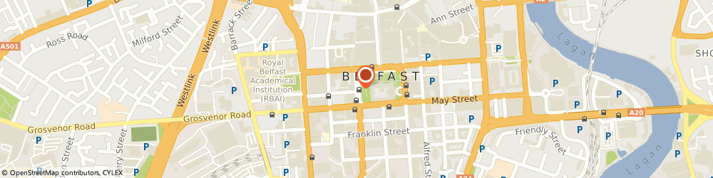 Route/map/directions to Caffè Nero, BT1 6JA Belfast, 10 Donegall Square West