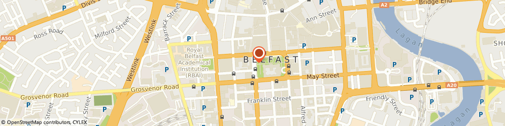 Route/map/directions to Charles White-Belfast, BT1 6JH Belfast, 7 DONEGALL SQUARE WEST