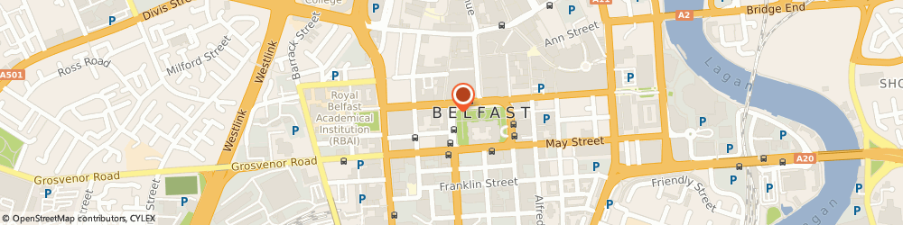 Route/map/directions to SKANDIA RESTAURANTS LIMITED, BT1 5HH Belfast, 2 Donegall Square West