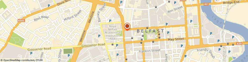 Route/map/directions to Electronic Centre, BT1 6DE Belfast, 16 College Square East
