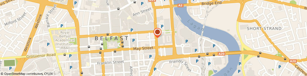 Route/map/directions to Cafe Carberry Catering, BT1 4PE Belfast, 153-155 Victoria St