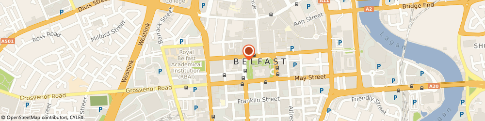 Route/map/directions to GRANT THORNTON (NI) LLP, BT1 6JH Belfast, 12-15 Donegall Square West