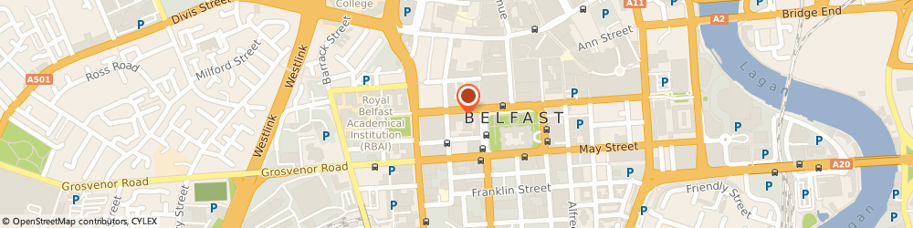 Route/map/directions to Rio, BT1 6GE Belfast, 20 Wellington Place