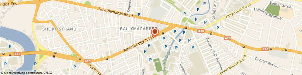 Route/map/directions to Clifford McClenaghan, BT5 4GX Belfast, 308 ALBERTBRIDGE ROAD
