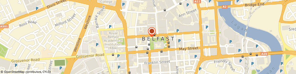 Route/map/directions to Carlton Bar, BT1 6JA Belfast, 4A DONEGALL SQUARE WEST