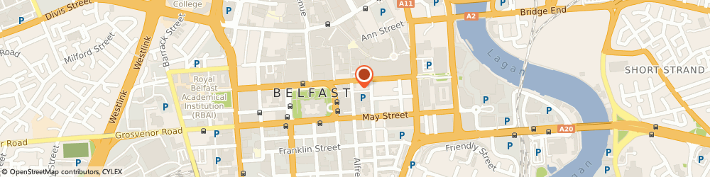 Route/map/directions to AMPM Bohemian Restaurant, BT1 4GH Belfast, 38-42 Upper Arthur St