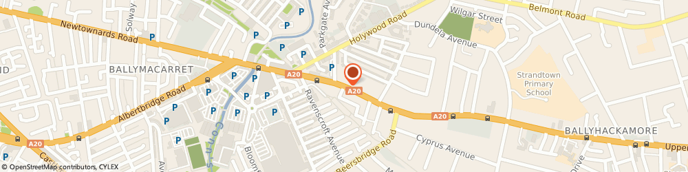Route/map/directions to Skill Waters, BT4 3HT Belfast, 19 Upper Newtownards Road