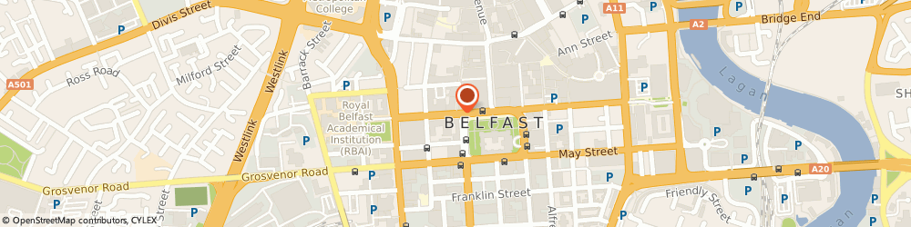 Route/map/directions to The Man Shack, BT1 6GE Belfast, 15 Wellington Place