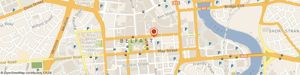 Route/map/directions to Thompson Hearing Services - Belfast, BT1 4JA Belfast, 7 Chichester St