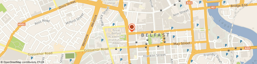 Route/map/directions to Trevor Mcclintock, BT1 6DG Belfast, LESLEY HOUSE