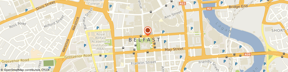 Route/map/directions to Belfast First Stop Business Shop, BT72 6AA Belfast, Clinton Centre, Belmore St