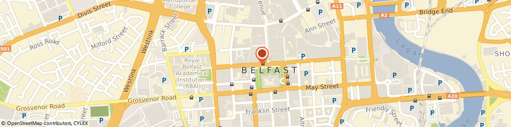 Route/map/directions to Access Skills Ireland Limited, BT1 5GB Belfast, MOORE STEPHENS, DONEGALL HOUSE, 7 DONEGALL SQUARE NORTH