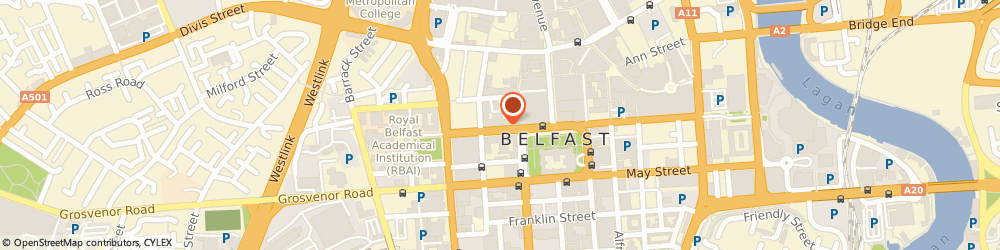 Route/map/directions to Atelier Interior Design, BT1 6GB Belfast, 7 Wellington Place