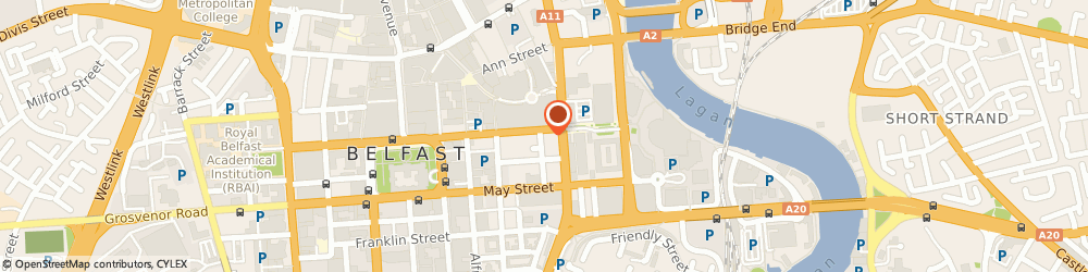 Route/map/directions to Precept IT Limited, BT1 4JE Belfast, Centre House, 79 Chichester Street