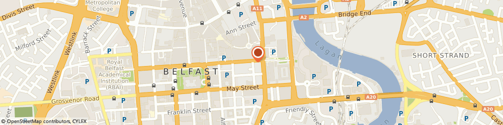 Route/map/directions to Protocol Skills, BT1 4JD Belfast, SCOTTISH LEGAL BUILDING, 65-67 CHICHESTER STREET