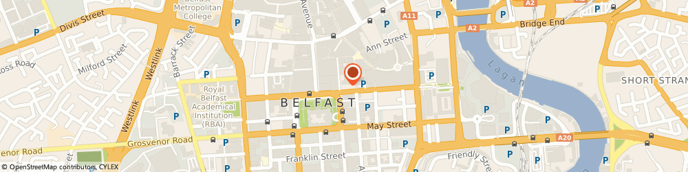 Route/map/directions to The Athletic Stores Limited, BT1 4LA Belfast, 6-10 Chichester St