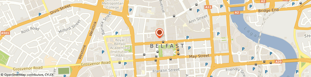 Route/map/directions to Linen Hall Library Cafe, BT1 5GB Belfast, 17 Donegall Square North