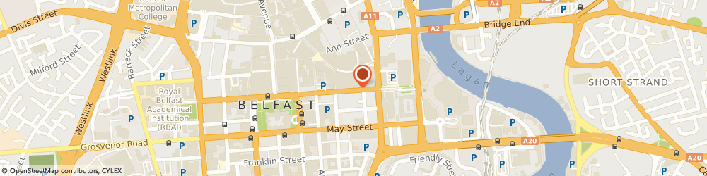 Route/map/directions to Meat Market The, BT1 4TL Belfast, CHICHESTER ST, VICTORIA CENTRE