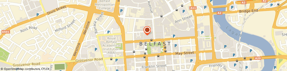 Route/map/directions to The Linen Hall Library Charity Book Shop, BT1 5EA Belfast, 51-53 Fountain Street