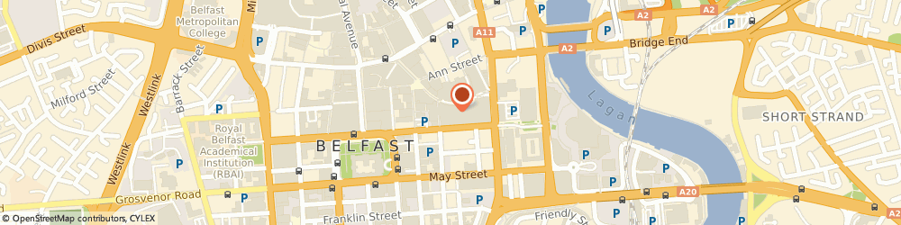 Route/map/directions to Cosmo, BT1 4QG Belfast, 1 Victoria Square