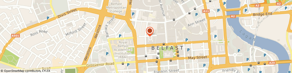 Route/map/directions to Power Clean Ni, BT1 6EF Belfast, Queen St
