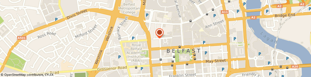 Route/map/directions to Caffè Nero, BT1 6ET Belfast, Fountain Centre, College Street