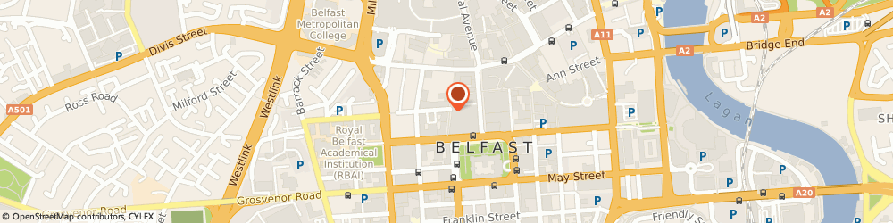 Route/map/directions to Subway, BT1 5EB Belfast, 43-45 Fountain Street