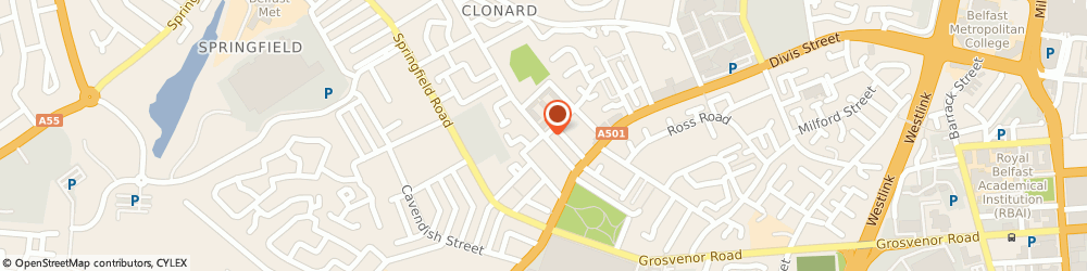 Route/map/directions to Fadail Medical Consultancy Limited, BT13 2QH Belfast, 24 ROSS MILL AVENUE, CLONARD STREET