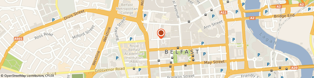 Route/map/directions to Vogue Fashions, BT1 6ET Belfast, 10A FOUNTAIN CENTRE, COLLEGE STREET