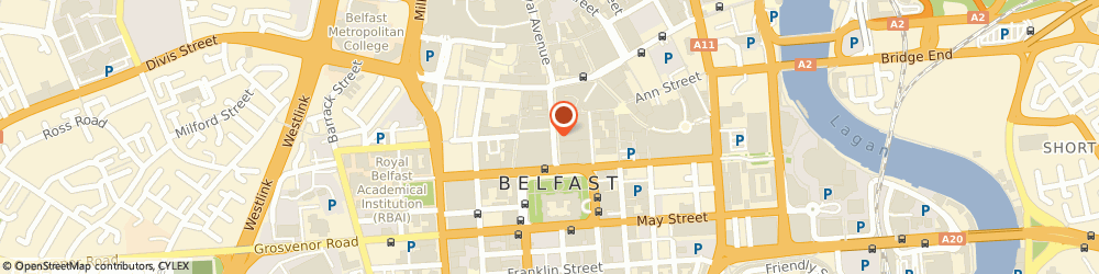 Route/map/directions to Failte Ireland, BT1 5AD Belfast, Belfast Welcome Centre 47, Donegall Place
