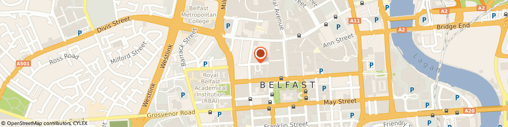 Route/map/directions to Space Craft, BT1 6ET Belfast, Exhibition Area, 9B The Fountain Centre, College Street
