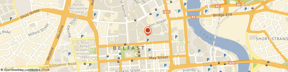 Route/map/directions to C-Fresh Mussels Limited, BT1 4GA Belfast, 21 ARTHUR STREET