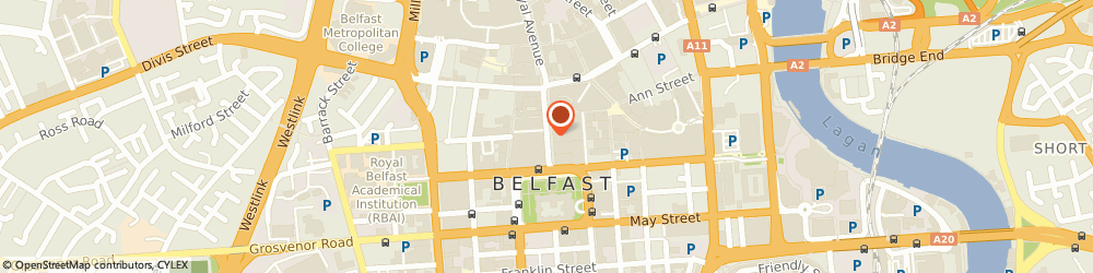 Route/map/directions to Dream (Ireland) Ltd, BT1 2GQ Belfast, 30 DONEGALL STREET