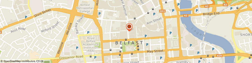 Route/map/directions to Benefit Cosmetics Brow Bar, BT1 5AD Belfast, 35-47 Donegall Place