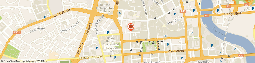 Route/map/directions to Usfolk, BT1 6EA Belfast, 37 Queens Street