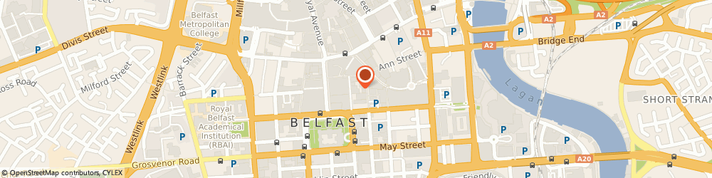 Route/map/directions to Consumer Advice Centre, BT1 5BN Belfast, 6 CALENDER STREET