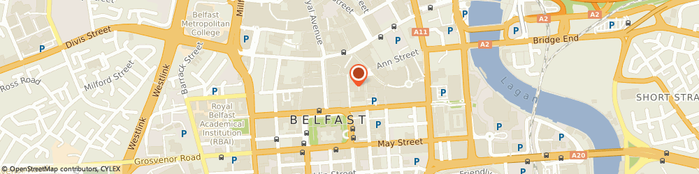 Route/map/directions to Subway, BT1 5BN Belfast, 8 Callender St