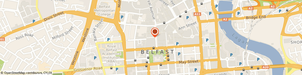 Route/map/directions to The Queens Bar, BT1 5FF Belfast, 4 Queens Arcade