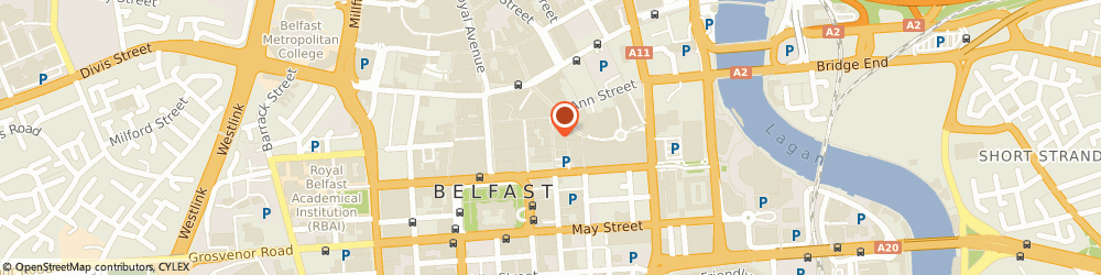 Route/map/directions to Oliver Bonas, BT1 5PY Belfast, 17-19 Arthur Street